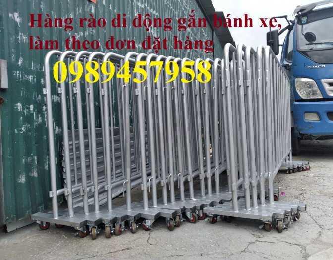 Hàng rào an ninh, hàng rào chắn tạm thời 1mx2m, 1,2mx2m, 1,5mx2,5m sẵn kho4
