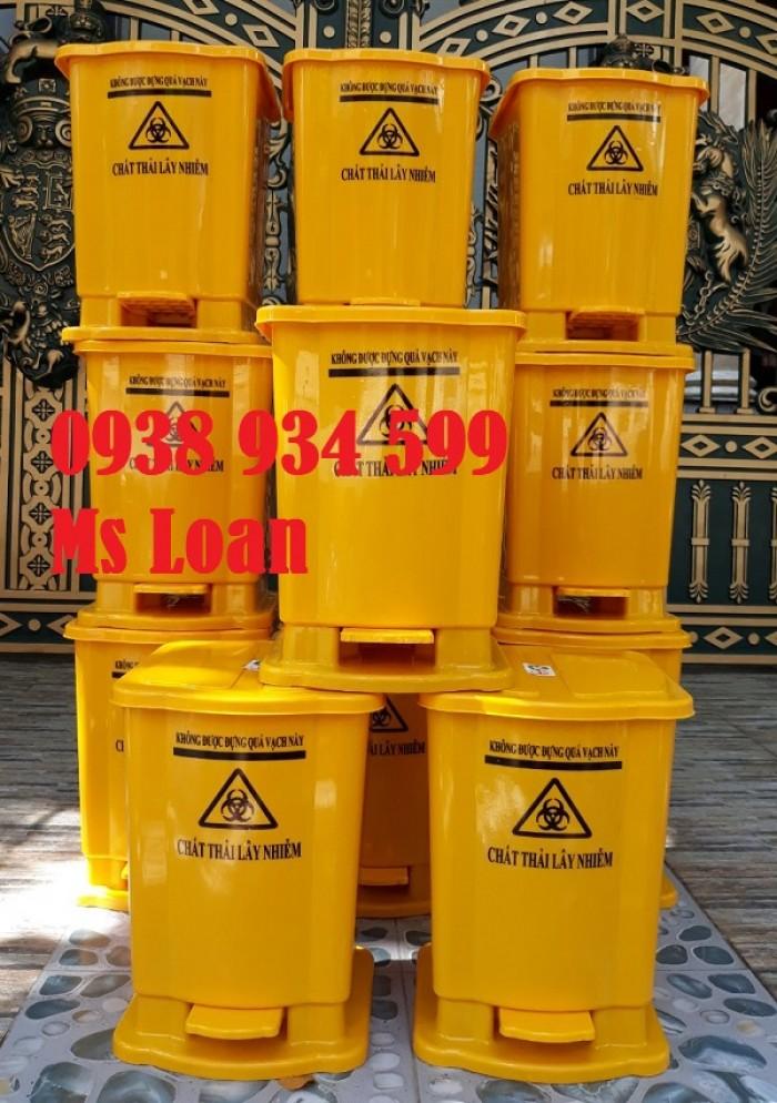 Thùng rác đạp chân 15 lít, thùng rác y tế đạp chân 15 lít4