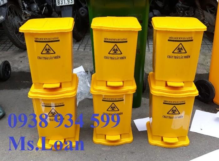 Thùng rác đạp chân 15 lít, thùng rác y tế đạp chân 15 lít2