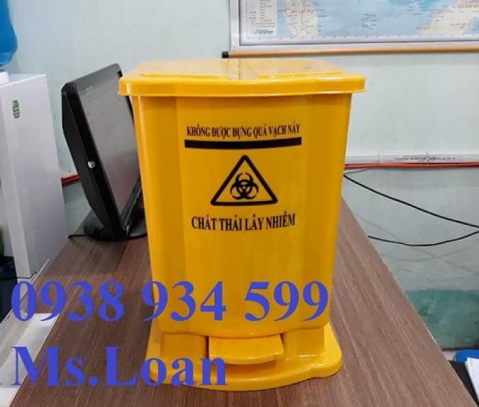 Thùng rác đạp chân 15 lít, thùng rác y tế đạp chân 15 lít1