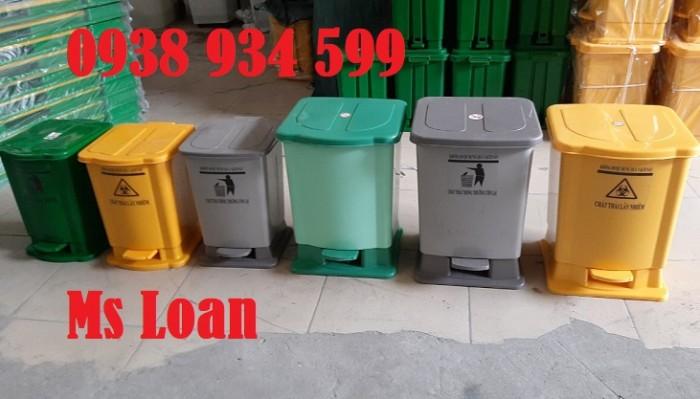 Thùng rác đạp chân 15 lít, thùng rác y tế đạp chân 15 lít3