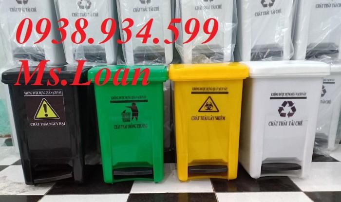 Thùng rác đạp chân 15 lít, thùng rác y tế đạp chân 15 lít5