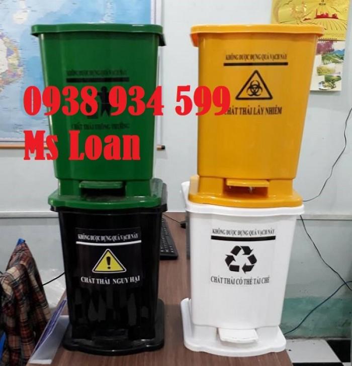 Thùng rác đạp chân 15 lít, thùng rác y tế đạp chân 15 lít10