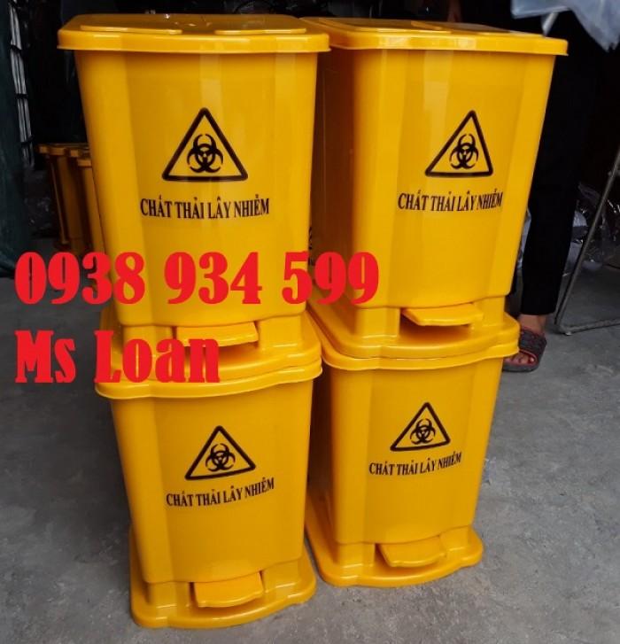 Thùng rác đạp chân 15 lít, thùng rác y tế đạp chân 15 lít9