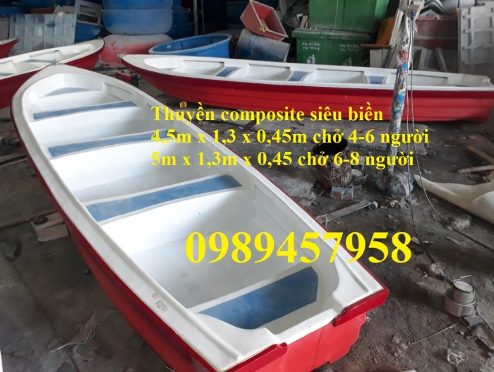 Thuyền chèo tay, Thuyền gắn động cơ, Thuyền cứu hộ, Thuyền nhựa composite11