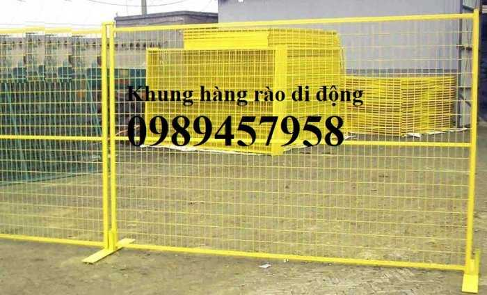 Gia công hàng rào khung di động, Hàng rào chắn công ty, Hàng rào ngăn kho sơn tĩnh điện7