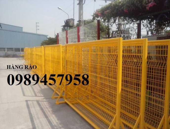 Gia công hàng rào khung di động, Hàng rào chắn công ty, Hàng rào ngăn kho sơn tĩnh điện6