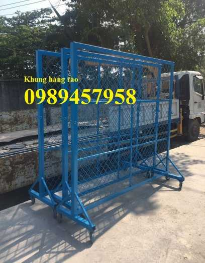 Gia công hàng rào khung di động, Hàng rào chắn công ty, Hàng rào ngăn kho sơn tĩnh điện5