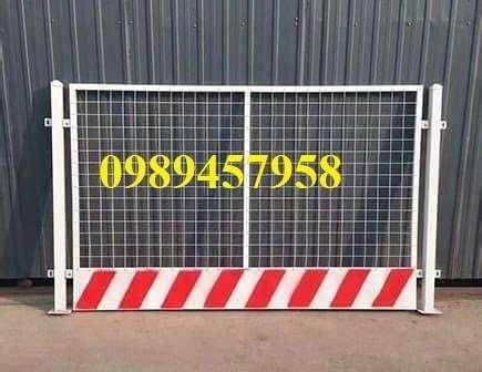 Gia công hàng rào khung di động, Hàng rào chắn công ty, Hàng rào ngăn kho sơn tĩnh điện3