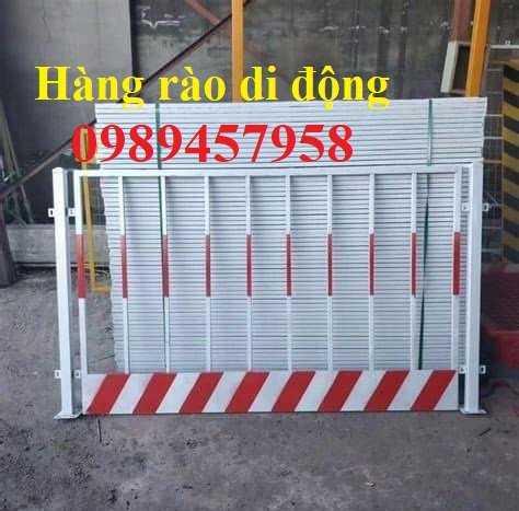 Gia công hàng rào khung di động, Hàng rào chắn công ty, Hàng rào ngăn kho sơn tĩnh điện2