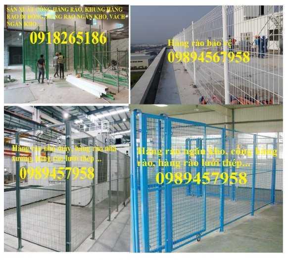 Gia công hàng rào khung di động, Hàng rào chắn công ty, Hàng rào ngăn kho sơn tĩnh điện0