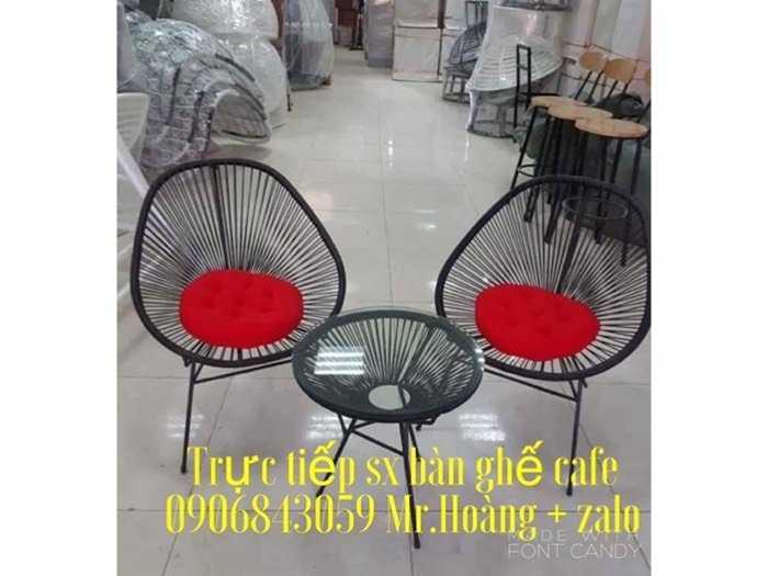 Bộ bàn ghế nhựa giả mây nón giá xưởng0