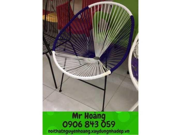 Bộ bàn ghế nhựa giả mây nón giá xưởng2