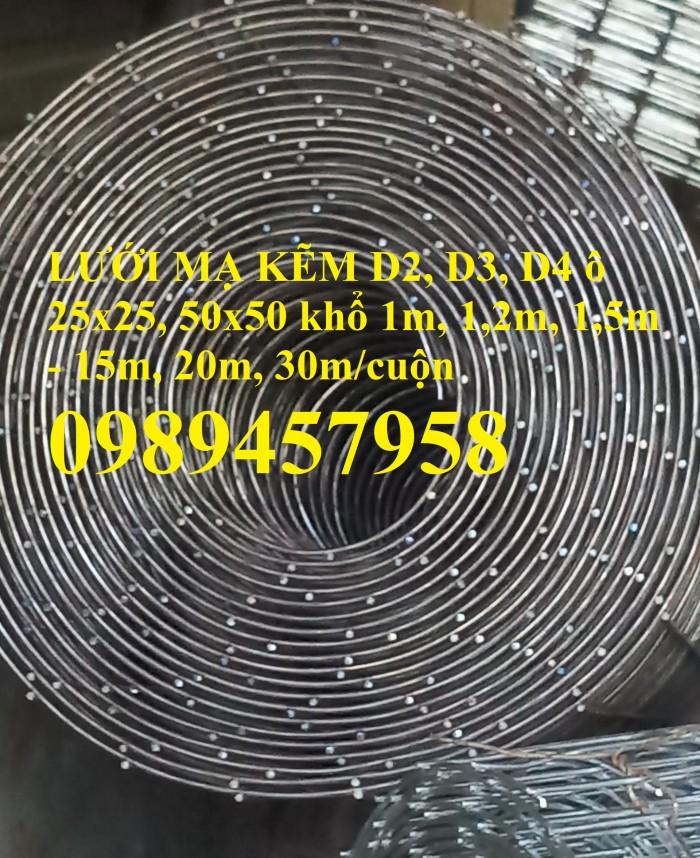 Cung cấp Lưới mạ kẽm phi 2 ô 12x12, 25x25, phi 3 ô 25x25, 50x501