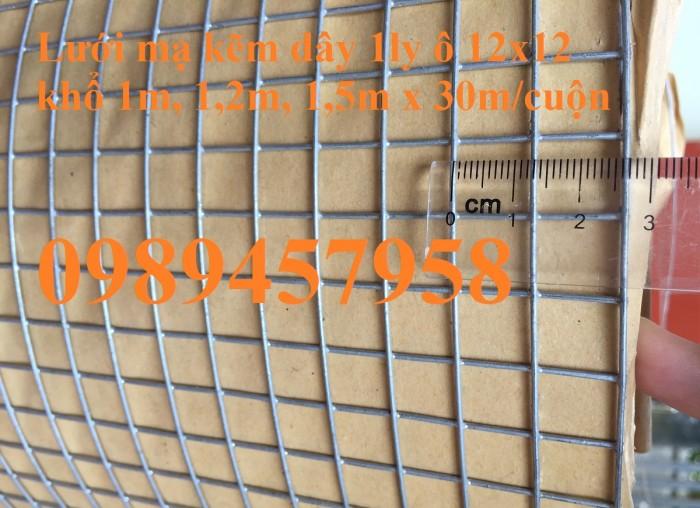 Lưới mạ kẽm dây 0,5ly ô 5x5, dây 1ly ô 10x10, dây 1,5ly ô 15x15, 20x20, dây 2ly 25x256