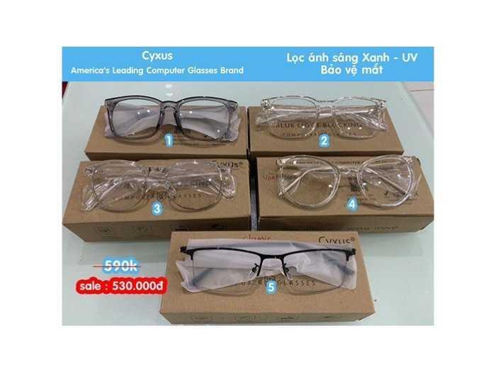 Kính cao cấp Cyxus USA Unisex lọc ánh sáng Xanh, tia UV 400 bảo vệ mắt trước thiết bị đện tử.0