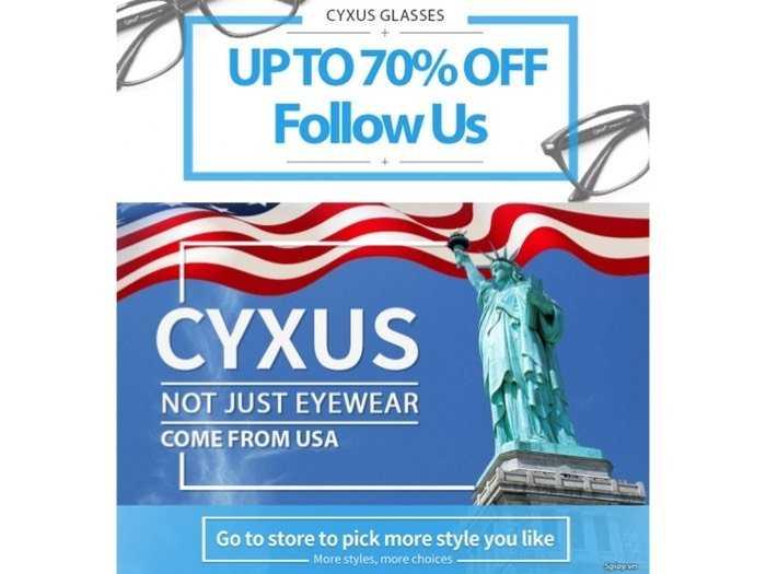 Kính cao cấp Cyxus USA Unisex lọc ánh sáng Xanh, tia UV 400 bảo vệ mắt trước thiết bị đện tử.4