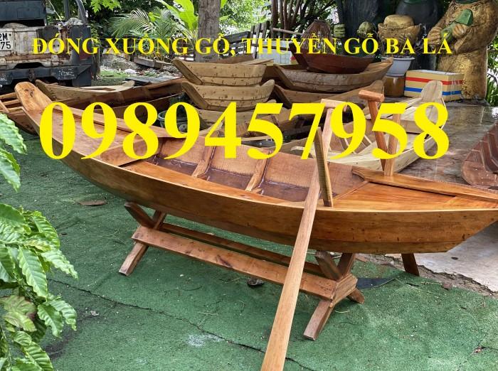 Sản xuất thuyền gỗ trang trí nhà hàng, xuồng gỗ quán cafe4