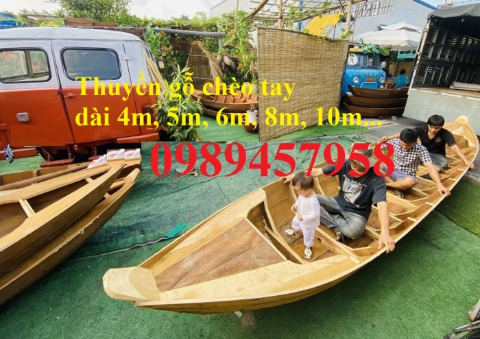 Sản xuất thuyền gỗ trang trí nhà hàng, xuồng gỗ quán cafe7