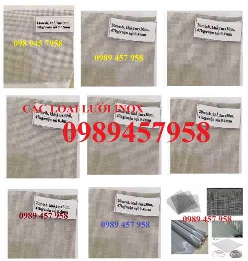 Lưới chống muỗi inox 316, Lưới inox 304 chống côn trùng, Lưới inox316, inox 210 và inox3048