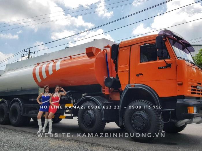 Xe bồn Kamaz, Bán xe bồn xăng dầu, Bán xe bồn xăng dầu Kamaz 18/ 23/ 25m3 mới