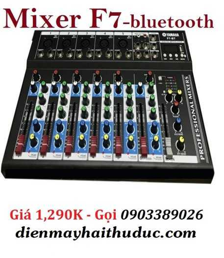 Mixer bàn Yamaha F7-BT có Bluetooth, cổng USB
