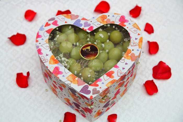 Quà tặng sinh nhật, 20/10 hộp quà trái cây nhập khẩu dâu tây nho Mỹ ỹ2