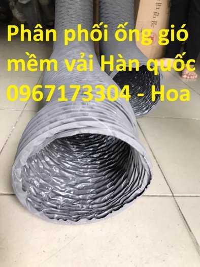 Ống gió mềm vải màu ghi phi 300 chất lượng Hàn Quốc2
