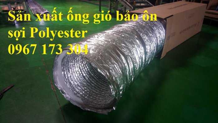 Ống gió mềm vải màu ghi phi 300 chất lượng Hàn Quốc0