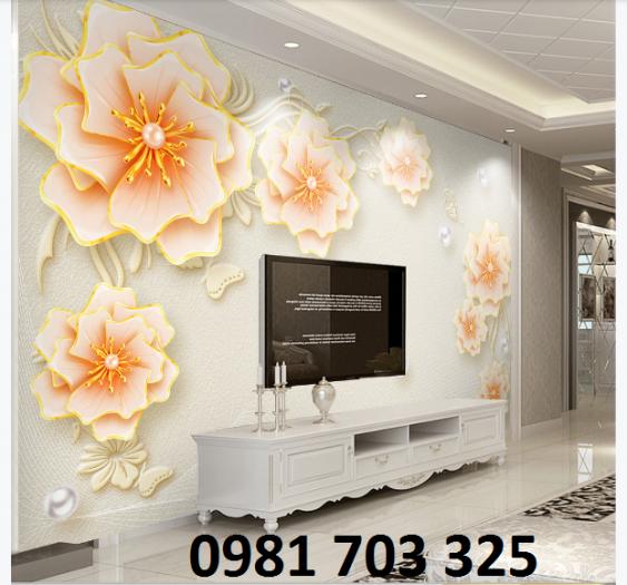 Tranh gạch hoa 3D trang trí phòng