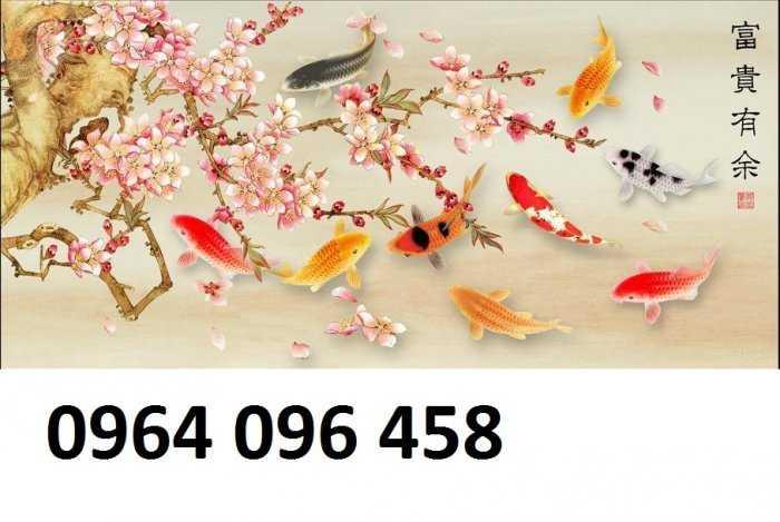 Tranh gạch 3d cữu ngư quần hội - SK880