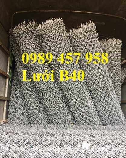 Lưới B40 thép đen, Lưới b40 mạ kẽm, Lưới B40 bọc nhựa khổ 2m, 2,2m, 2,4m6