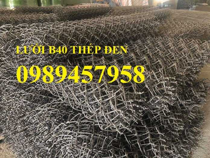 Lưới B40 thép đen, Lưới b40 mạ kẽm, Lưới B40 bọc nhựa khổ 2m, 2,2m, 2,4m5
