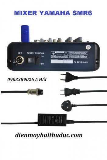Mixer bàn Yamaha SMR6 hỗ trợ 16 chế độ Vang Echo