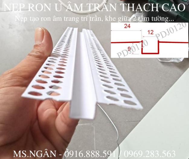 Nẹp nhựa khe thạch cao - nẹp khe co giãn trần - nẹp chữ u âm trần hoặc tường1