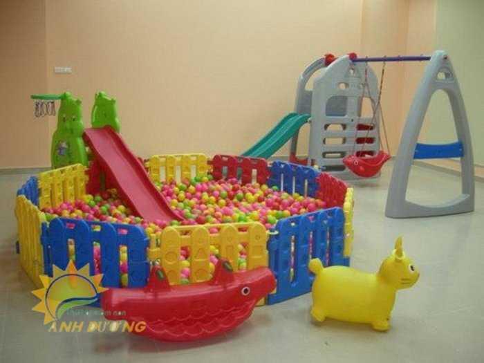Chuyên cung cấp nhà banh trong nhà cho trường mầm non, khu vui chơi, gia đình0
