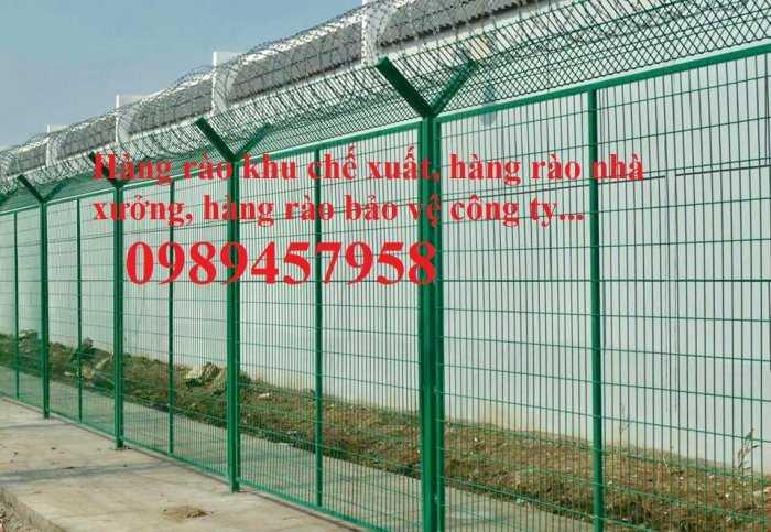 Hàng rào uốn sóng trên thân, hàng rào gập tam giác đầu5