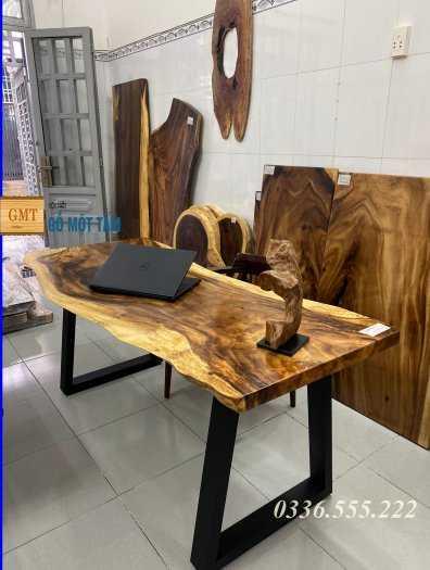 Bàn làm việc tuyệt đẹp gỗ me tây nguyên tấm5