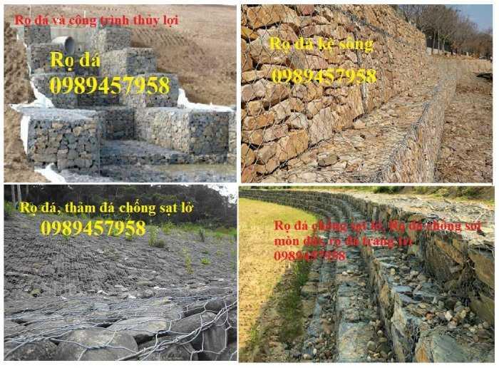 Rọ đá mạ kẽm nhúng nóng 2x1x0,3, 2x1x0,5m, Rọ đá bọc nhựa 1x1x0,5, 1x1x1, giao hàng toàn quôc5