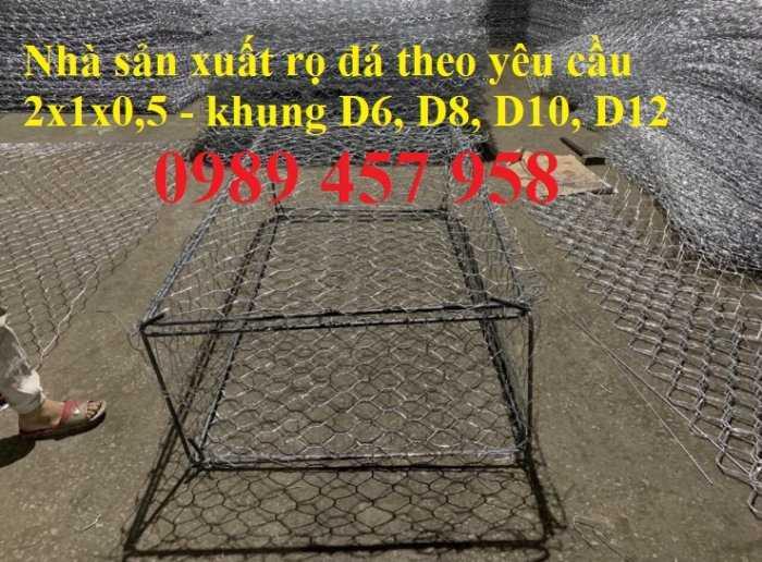 Rọ đá mạ kẽm nhúng nóng 2x1x0,3, 2x1x0,5m, Rọ đá bọc nhựa 1x1x0,5, 1x1x1, giao hàng toàn quôc3