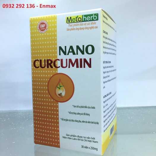Nano Curcumin giúp giảm đau, viêm loét dạ dày, tá tràng0