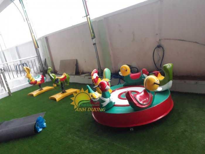 Chuyên sản xuất và cung cấp mâm xoay cho trường mầm non, khu vui chơi, công viên5