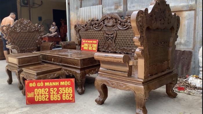 Bộ Bàn Ghế Phòng Khách Hoàng Gia Gỗ Mun Đuôi Công - Gọi 0962523566 (24/24) dogomanhmoc.com0
