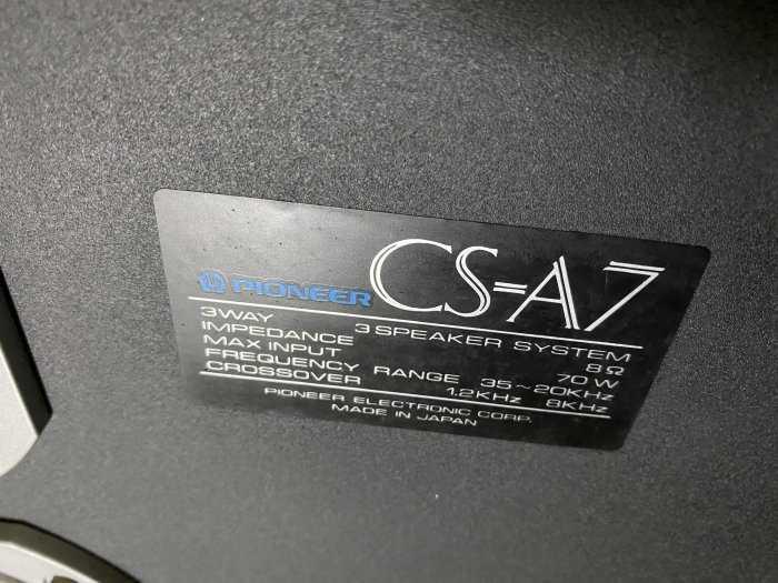 LOA PIONEER CS-A7 JAPAN