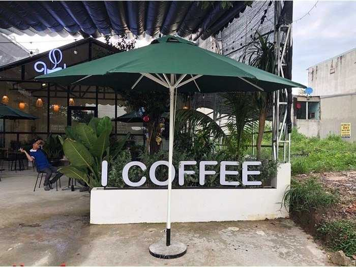Dù Caffe che nắng và mưa giá gốc - nội thất Nguyễn hoàng0