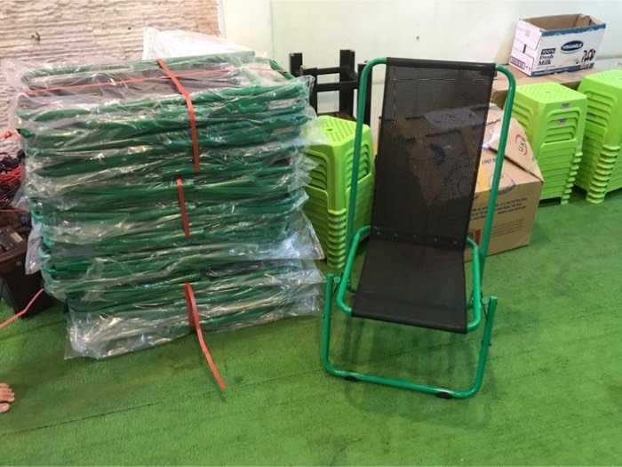 Ghế xếp lưới sắt caffe giá xưởng - nội thất Nguyễn Hoàng0