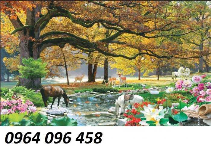 Gạch tranh 3d cảnh thiên nhiên - CL098