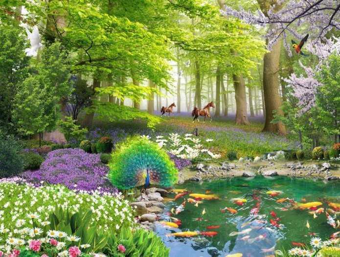Gạch tranh 3d cảnh thiên nhiên - CL095