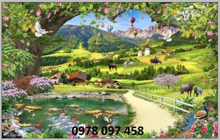 Tranh phong cảnh thiên nhiên giao hòa2