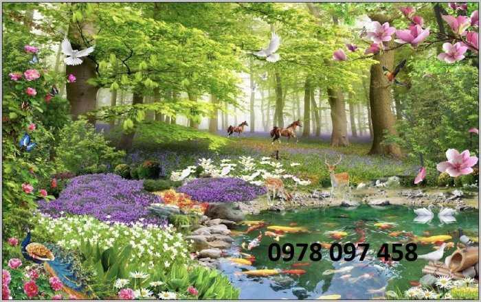 Tranh phong cảnh thiên nhiên giao hòa0